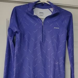 Women's Reebok 1/4 Zip Long Sleeved Pullover